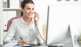 Office receptionist (FEMALES ONLY)