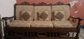Pure shesham(Taali)wood sofa set 3+1+1