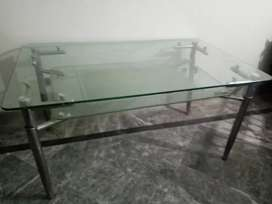 Dining table with thick glass