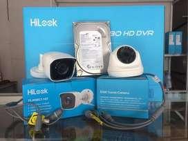 Paket cctv 4 kamera hilook lengkap murah