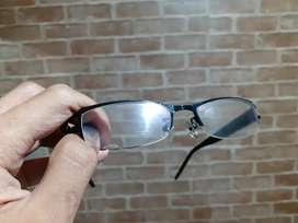 Servicee kacamata dicat full hitam metalik