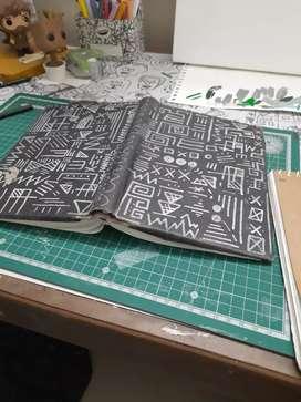 Custom doodle diary!