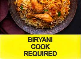 Biryani Cook Job - Need A Biryani Cook.