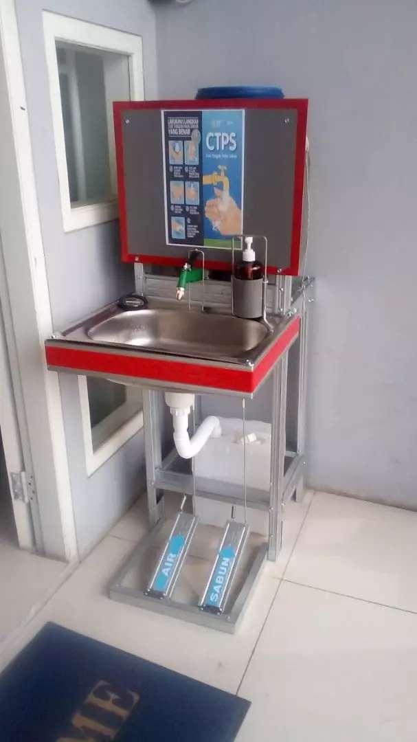 Wastafel portable otomatis murmer anti karat 0