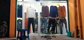 A well furnished clothing retail store. With 2 lakhs above stock