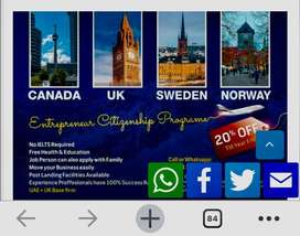 Get Sweden , UK , Canada , UK , US,AUS Family Immigration in 3 months