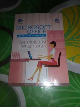 Buku panduan Microsoft Office untuk adm perkantoran.