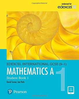 Mathematics A, Student Book 1 Pearson (Edexcel International GCSE) (9-
