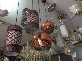 Lampu Gantung hias bulat chrome minimalis kitchen mini bar ruang makan