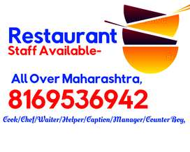We Provide STAFF,, For Restaurant ,, Hotel,, Cafe,, All Maharashtra,