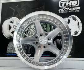 Veleg Mobil Yaris Livina Armbar HSR Wheel Ring 16 Silver Machine Face