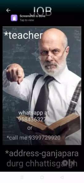 Sankrit/biology/chemistry teacher required