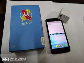 Moto c plus , bill ,box , original charger