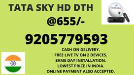 LOWEST PRICE SALE ON TATA SKY HD