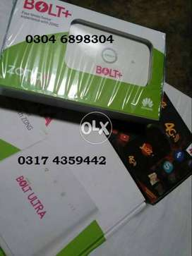 Zong 4g Bolt+ & JAZZ SUPER 4G DOUBLE DATA Devices Available