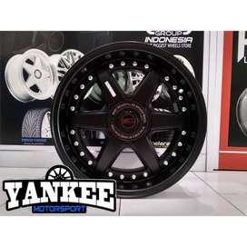 Cicil Velg Mobil DP 10% HSR Wheel HOSHI Ring 16 PCD 4X100-114,3 SMB