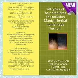 Magical herbal homemade hair oil