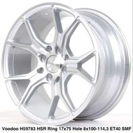 free ongkir,VOODOO 59783 HSR R17X75 H8X100-114,3 ET40 SMF