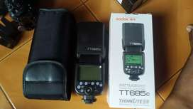 Flash Godox TT685 dan Triger X1t untuk canon