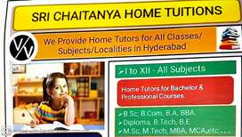 Home Tutions Online anywhere in India, Offline only in Telangana