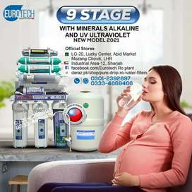 New Model Original Taiwan Ro plant 9 Stage Euro Tech Ro Water filter