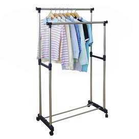 DOUBLE Clothes Hanger Stand – Drying Rack Aone