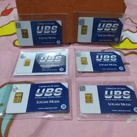 Logam Mulia Emas UBS 1 gram SNI Mulus