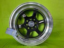 velg hsr model tokyo ring 15x7-8 black polis