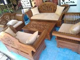 kursi tamu meja set jati model sekarang 09