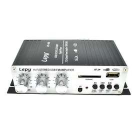 Lepy Mini Car Hi-Fi Stereo Audio Amplifier Bass Booster MP3 12V