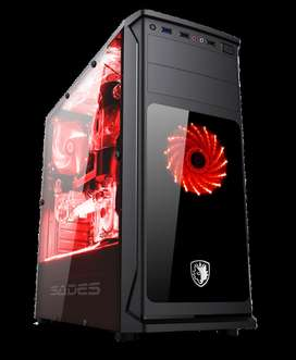 Casing Gamming Sades Sphinx inclued 1 Fan LED + 1