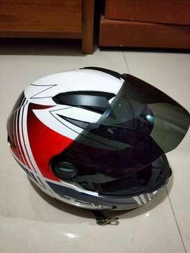 Helm fullface Zeus 811 J20 White blue red