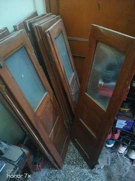 Single wooden windows