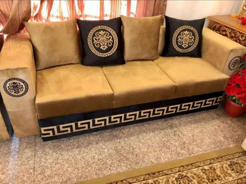 Versace design sofa bed set complete sofa table and all home furniture 0