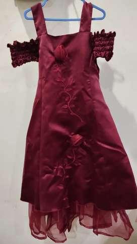 Baju dress anak thrift umur 8- 10 tahun