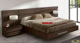 super offer King size bed with side table dressing