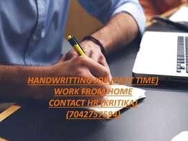 HAND WRITING JOB-PART TIME WORK