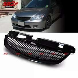 honda civic 2005 front sport grill like new