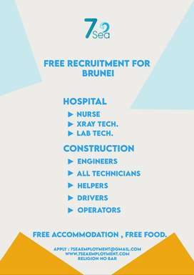 Free Vacancy for Brunei