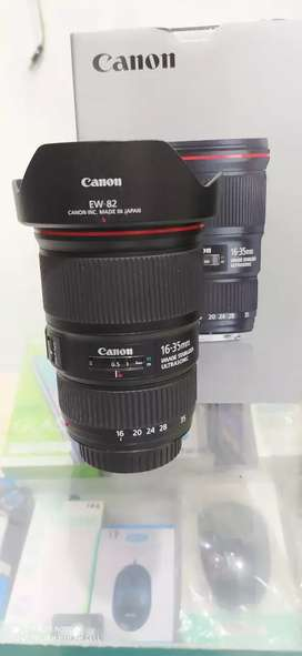 Lensa wide canon 16-35mm f4 is mulus box