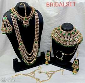 KUNDAN sets, jewellery gold plated sets available