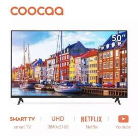SMART TV LED COOCAA 50 INCH 4K UHD MODEL 50S3N MURAH CUMA 4,1JUTA