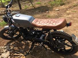 Modified pulsar 150 in cafe racer