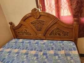 Teak wood cot and matress