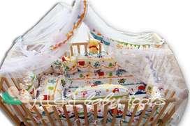 Baby crip box bayi kayu kayu