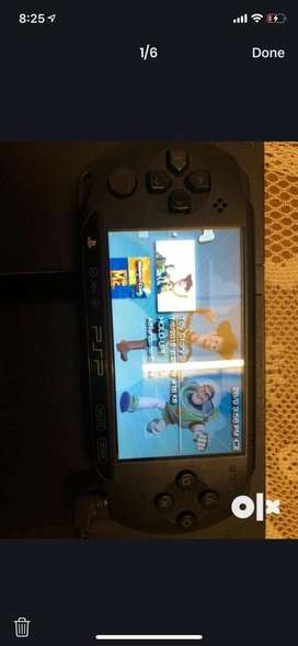 Sony PSP matte black color. 8gb external memory card