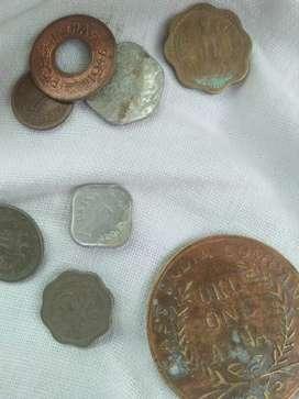 बहुत पुराने सिक्के.