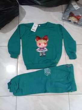 Baju sweater led set Atasan Bawahan