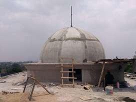 Kontraktor Kubah Masjid bahan GRC Berpengalaman dalam Pembuatan