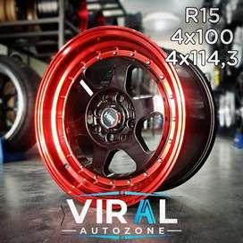 Velg Mobil Agya Ring 15 Racing HSR Bisa Kredit Di Toko Viral autozone